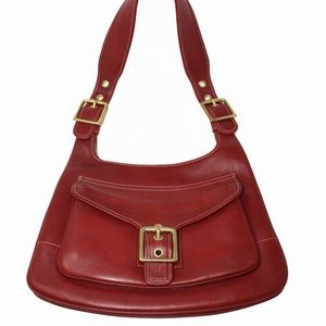 Coach Hobo Saddle Bag Style 9340 in Red